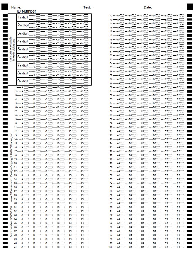 Omr Software Exam Scoring Machine Amp Printable Test